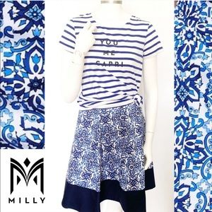 "Milly Skirts - Milly ""You Me Capri"" Outfit Bundle Skirt & Tee"